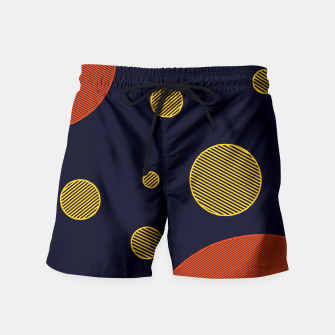 Miniatur Orange  Yellow Vector  Swim Shorts, Live Heroes