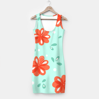 Thumbnail image of Cheerful Red Flowers Pattern Simple Dress, Live Heroes