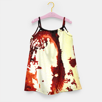 Flowing Brown  Girl's Dress miniature