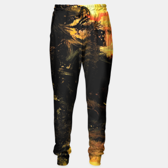 Miniaturka smudged yellow-black Sweatpants, Live Heroes