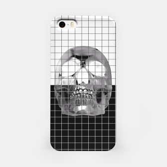 Miniatur Skully B&W iPhone Case, Live Heroes
