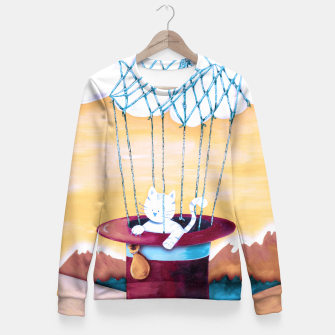 Thumbnail image of The cat traveling in dreams Sudadera entallada, Live Heroes