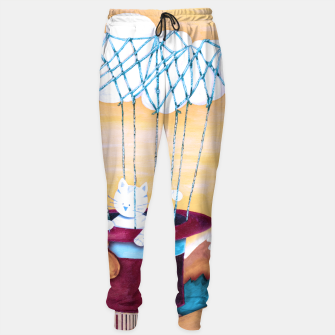 Thumbnail image of The cat traveling in dreams Pantalones de chándal, Live Heroes