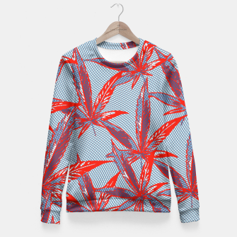 Thumbnail image of Red Blue Ganja Fitted Waist Sweater, Live Heroes