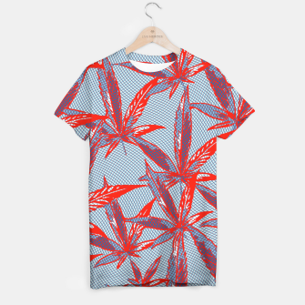 Thumbnail image of Red Blue Ganja T-shirt, Live Heroes