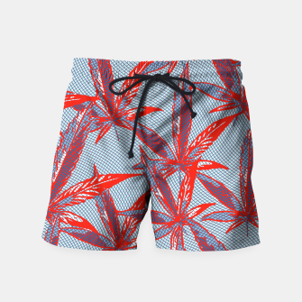 Thumbnail image of Red Blue Ganja Swim Shorts, Live Heroes