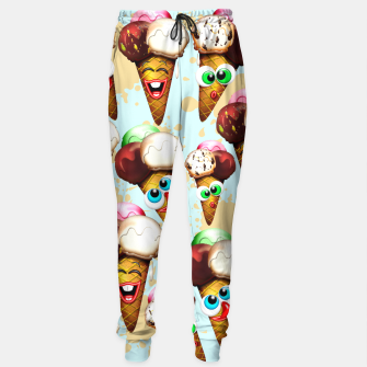 Thumbnail image of Ice Cream Cones Cartoon Summer Pattern  Sweatpants, Live Heroes
