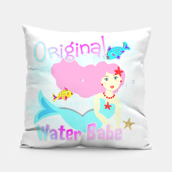 Thumbnail image of Girly Cute Mermaid Water Babe  Pillow, Live Heroes