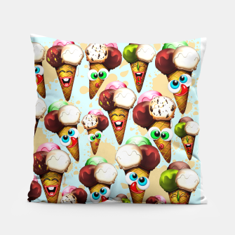 Thumbnail image of Ice Cream Cones Cartoon Summer Pattern  Pillow, Live Heroes