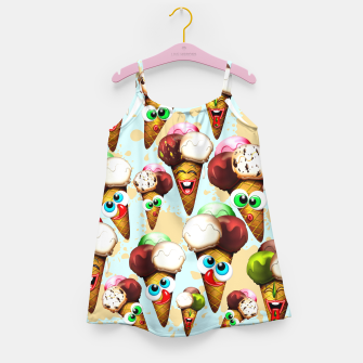 Thumbnail image of Ice Cream Cones Cartoon Summer Pattern  Girl's Dress, Live Heroes