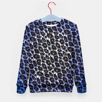 Thumbnail image of Black Blue Cheetah Print  Kid's Sweater, Live Heroes