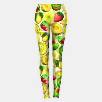 Thumbnail image of Summer Fruits Juicy Pattern  Leggings, Live Heroes