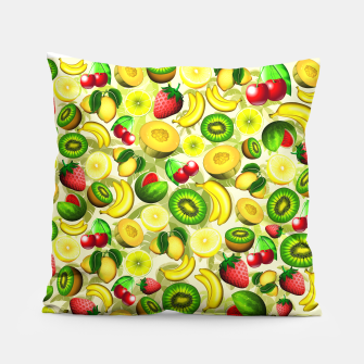 Thumbnail image of Summer Fruits Juicy Pattern  Pillow, Live Heroes