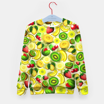 Thumbnail image of Summer Fruits Juicy Pattern  Kid's Sweater, Live Heroes