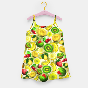 Thumbnail image of Summer Fruits Juicy Pattern  Girl's Dress, Live Heroes