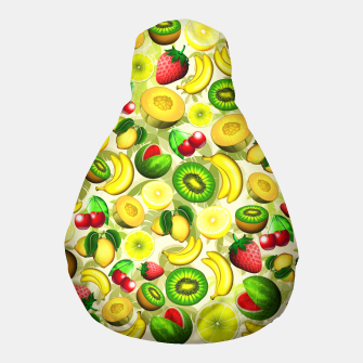 Thumbnail image of Summer Fruits Juicy Pattern  Pouf, Live Heroes