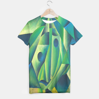 Thumbnail image of Cubist Abstract Of Village Woman Wearing A Headscarf T-shirt, Live Heroes