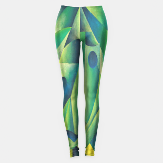 Thumbnail image of Cubist Abstract Of Village Woman Wearing A Headscarf Leggings, Live Heroes
