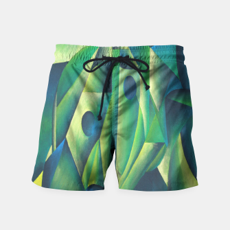 Thumbnail image of Cubist Abstract Of Village Woman Wearing A Headscarf Swim Shorts, Live Heroes