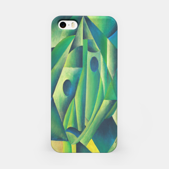Thumbnail image of Cubist Abstract Of Village Woman Wearing A Headscarf iPhone Case, Live Heroes