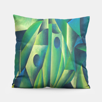 Thumbnail image of Cubist Abstract Of Village Woman Wearing A Headscarf Pillow, Live Heroes