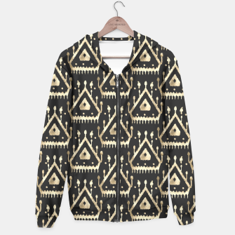 Miniatur Modern gold triangles Ikat tribal pattern, Live Heroes
