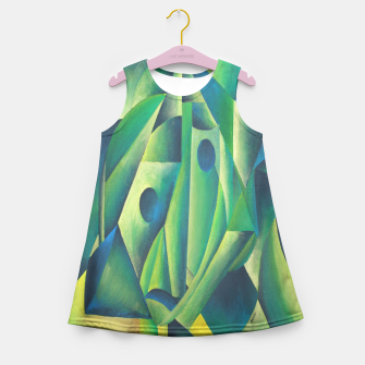 Thumbnail image of Cubist Abstract Of Village Woman Wearing A Headscarf Girl's Summer Dress, Live Heroes
