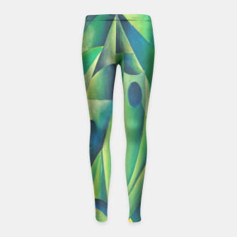 Thumbnail image of Cubist Abstract Of Village Woman Wearing A Headscarf Girl's Leggings, Live Heroes