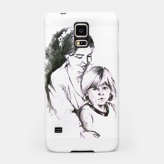 Thumbnail image of Customization with pencil portrait from your photo Samsung Case, Live Heroes