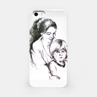 Thumbnail image of Customization with pencil portrait from your photo iPhone Case, Live Heroes