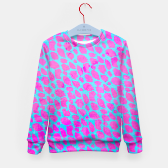 Thumbnail image of Florescent Pink Blue Cheetah  Kid's Sweater, Live Heroes