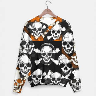 Thumbnail image of Skull Metal Texture  Sweater, Live Heroes