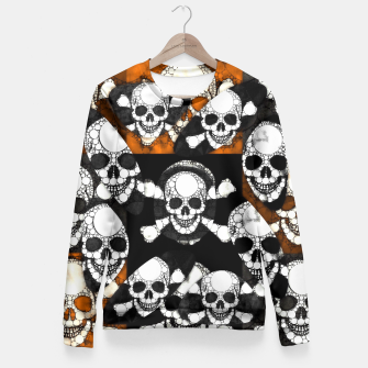 Thumbnail image of Skull Metal Texture  Fitted Waist Sweater, Live Heroes