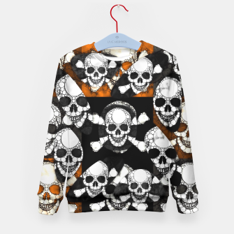 Thumbnail image of Skull Metal Texture  Kid's Sweater, Live Heroes