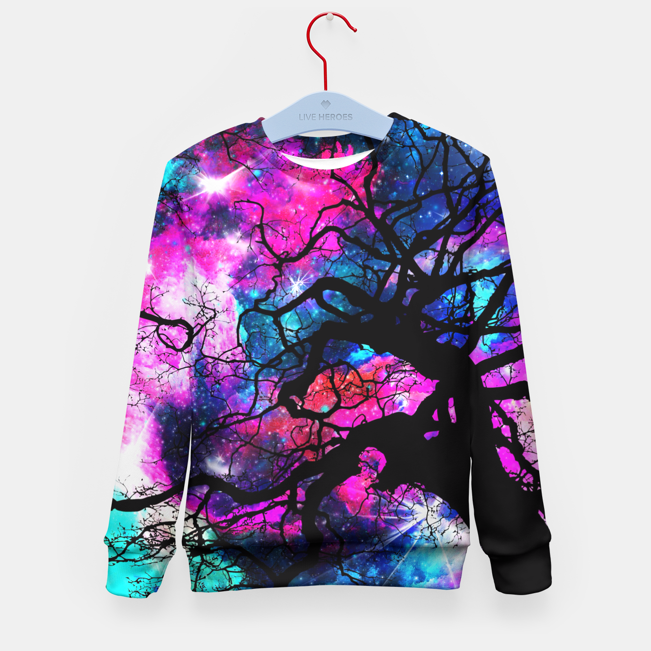 Image of Starfield Tree Kid's Sweater - Live Heroes