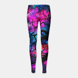 Starfield Tree Girl's Leggings obraz miniatury