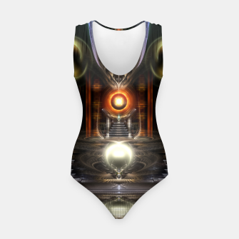 Thumbnail image of The Throne Room Fractal Art Architecture Swimsuit, Live Heroes