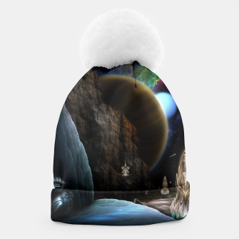 Thumbnail image of Exploration Of Space Fractal Sci-Fi Landscape Beanie, Live Heroes