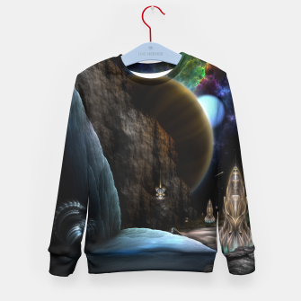 Thumbnail image of Exploration Of Space Fractal Sci-Fi Landscape Kid's sweater, Live Heroes