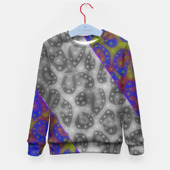 Thumbnail image of Psychedelic Cheetah Print  Kid's Sweater, Live Heroes
