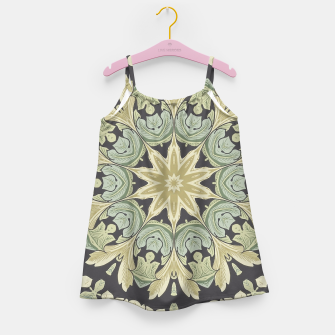 Imagen en miniatura de Mandala Leaves In Pale Blue, Green and Ochra Girl's Dress, Live Heroes