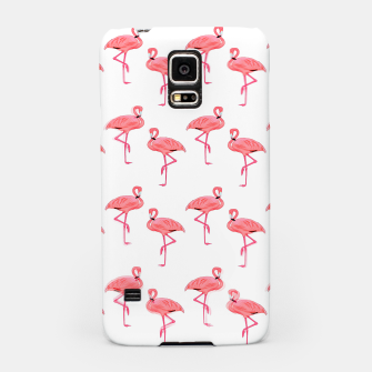 Classic Pink Flamingo Pattern Samsung Case thumbnail image