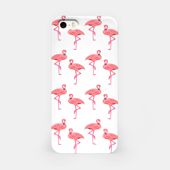 Classic Pink Flamingo Pattern iPhone Case thumbnail image