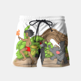 Thumbnail image of Red Flower March Swim Shorts, Live Heroes