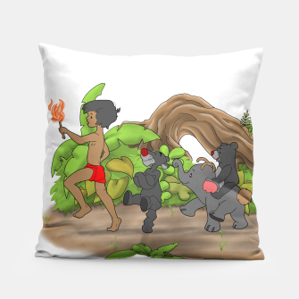 Thumbnail image of Red Flower March Pillow, Live Heroes