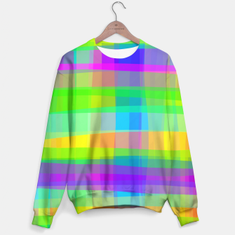 Thumbnail image of Psychedelic Faux Fabric Texture Pattern Sweater, Live Heroes