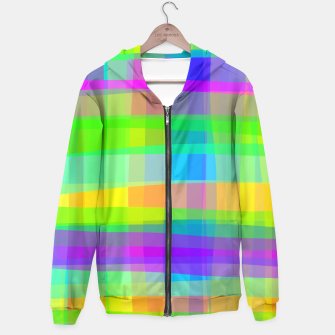 Thumbnail image of Psychedelic Faux Fabric Texture Pattern Hoodie, Live Heroes