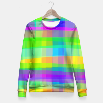 Thumbnail image of Psychedelic Faux Fabric Texture Pattern Fitted Waist Sweater, Live Heroes