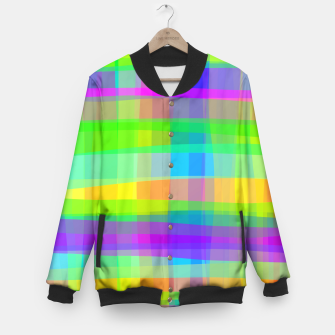 Thumbnail image of Psychedelic Faux Fabric Texture Pattern Baseball Jacket, Live Heroes