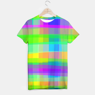 Thumbnail image of Psychedelic Faux Fabric Texture Pattern T-shirt, Live Heroes